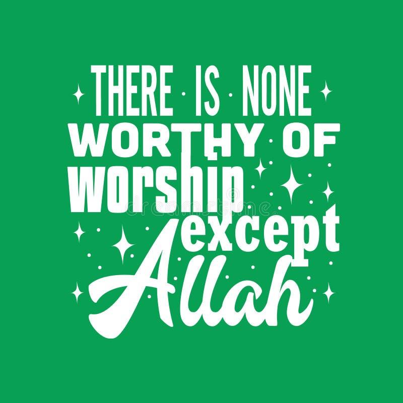 Cita musulmán y refrán, buenos para el diseño de la impresión libre illustration