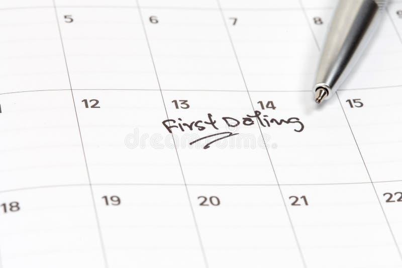 Cita para la fecha en calendario fotos de archivo libres de regalías
