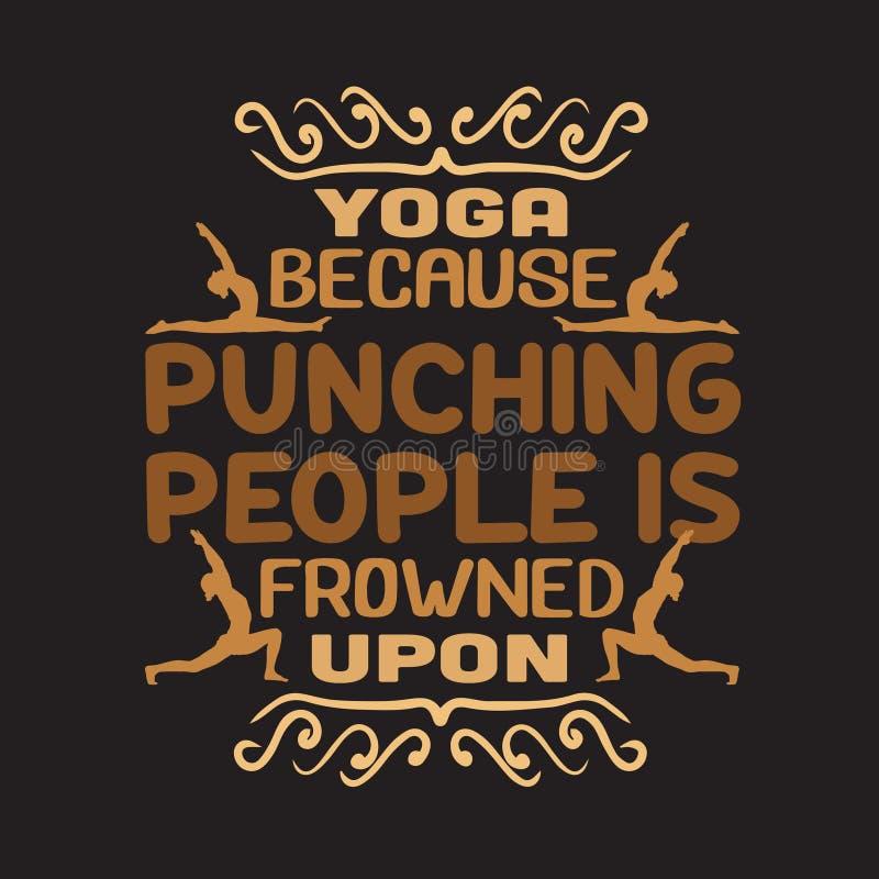 Cita y el decir de la yoga buenos para el dise?o de la impresi?n libre illustration