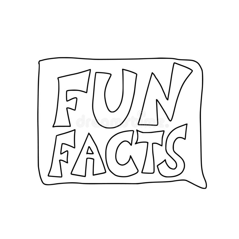 Citaat over geplaatste feiten Vector gestileerde tekst royalty-vrije illustratie
