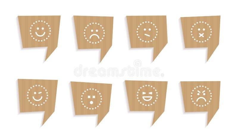 Citaatbellen van karton worden verwijderd dat stock illustratie