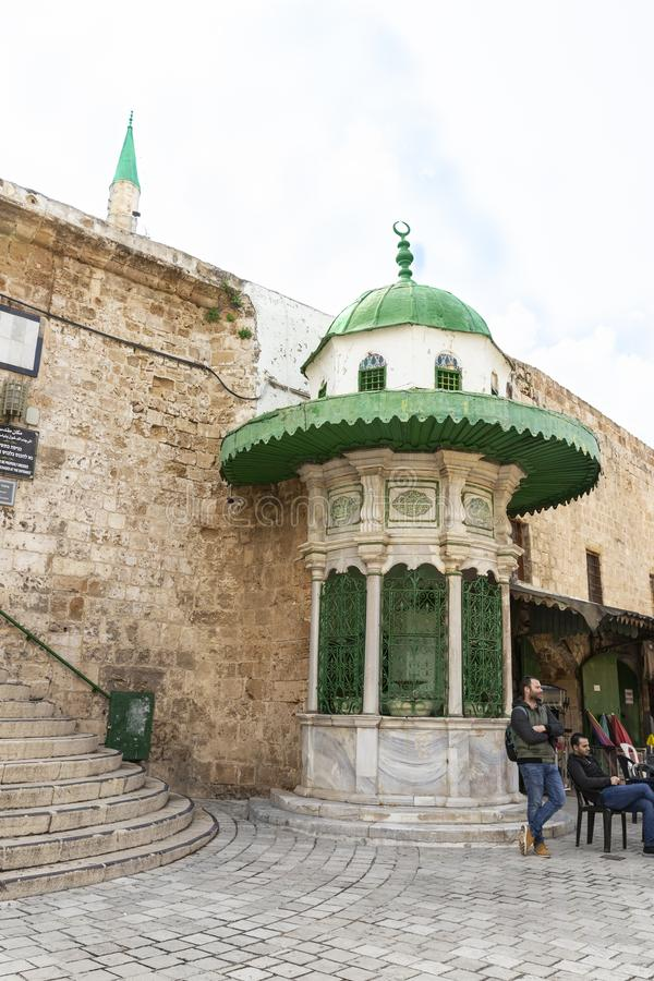 Citadel of Acre, Israel - Ahmed Al Jazzar mosque royalty free stock image
