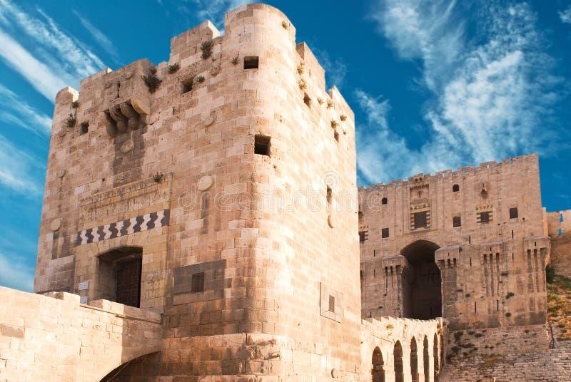 Citadel Aleppo royalty free stock photo