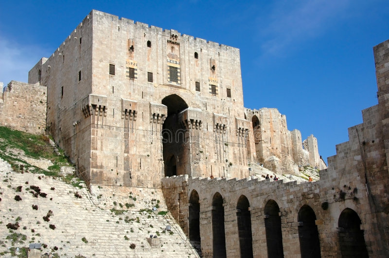 Citadel of Aleppo stock photography