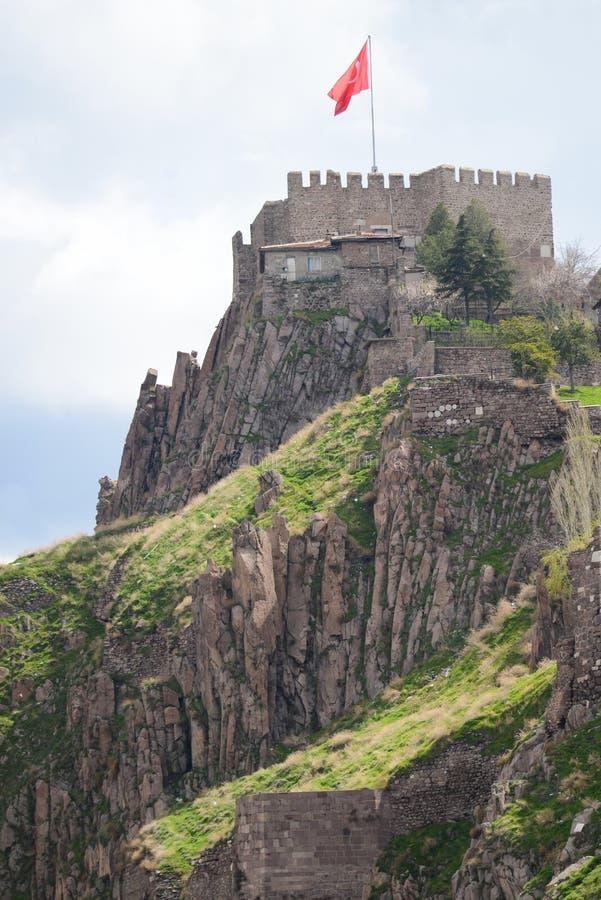 The Citadel of Ankara - Turkey. The Citadel of Ankara in a cloudy day - Turkey royalty free stock image