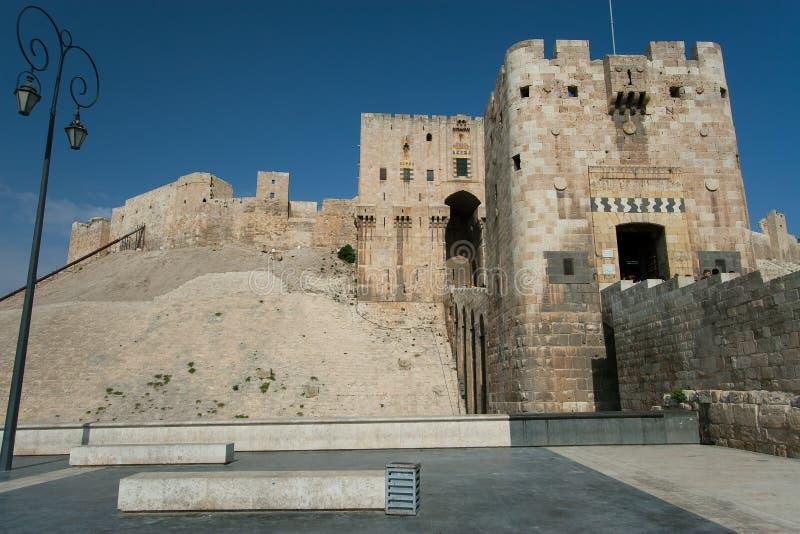 Citadel av Aleppo, Syrien royaltyfria bilder