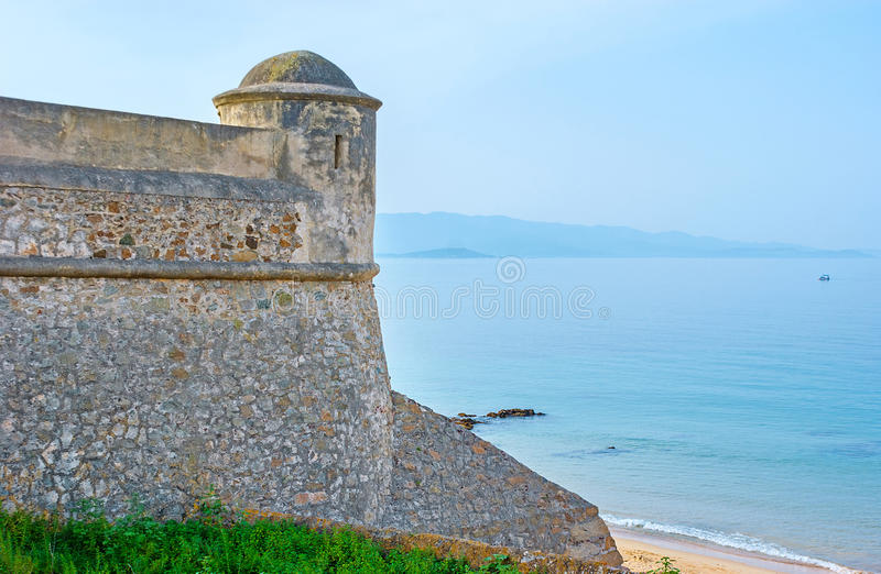 The Citadel at the beach royalty free stock photos