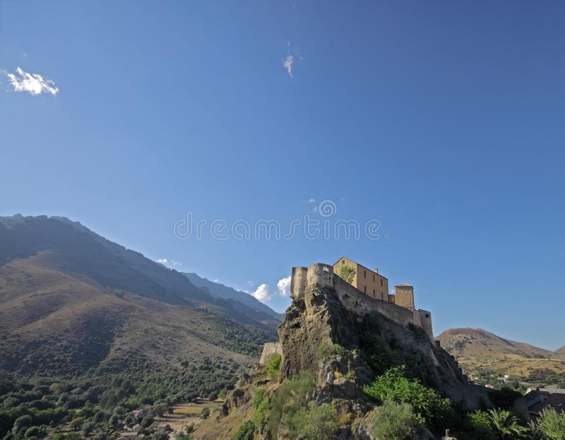 Citadel of Corte, Corsica stock photography
