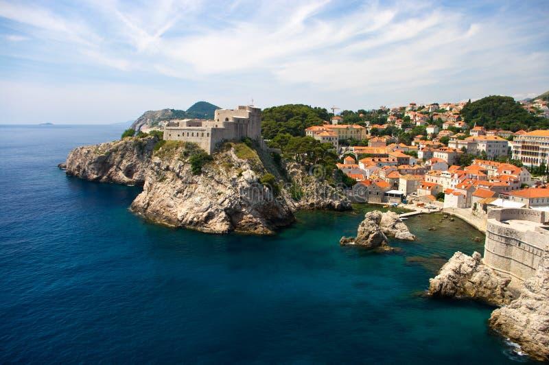 Citadel in Dubrovnik stock afbeeldingen