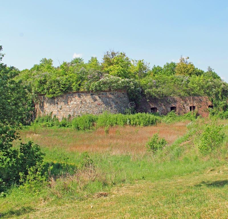 Citadel in Grudziadz stock afbeeldingen