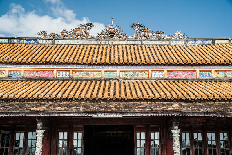 Citadel in Hue. Beautiful site of Citadel in Hue, Vietnam. Citadel in Hue is enlisted in UNESCO World Heritage Sites. Travel photography for Southeast Asia royalty free stock images