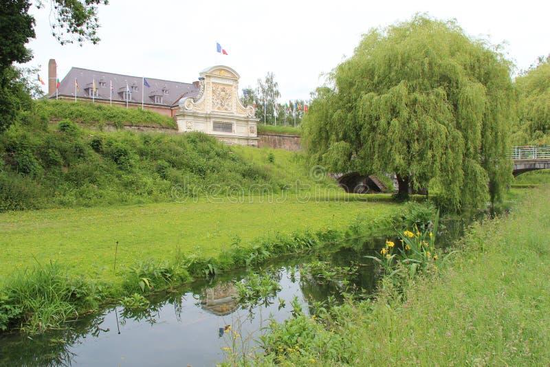Citadel - Lille - France. A brook flows near the citadel of Lille (France). Un ruisseau coule près de la citadelle de Lille (France stock photo