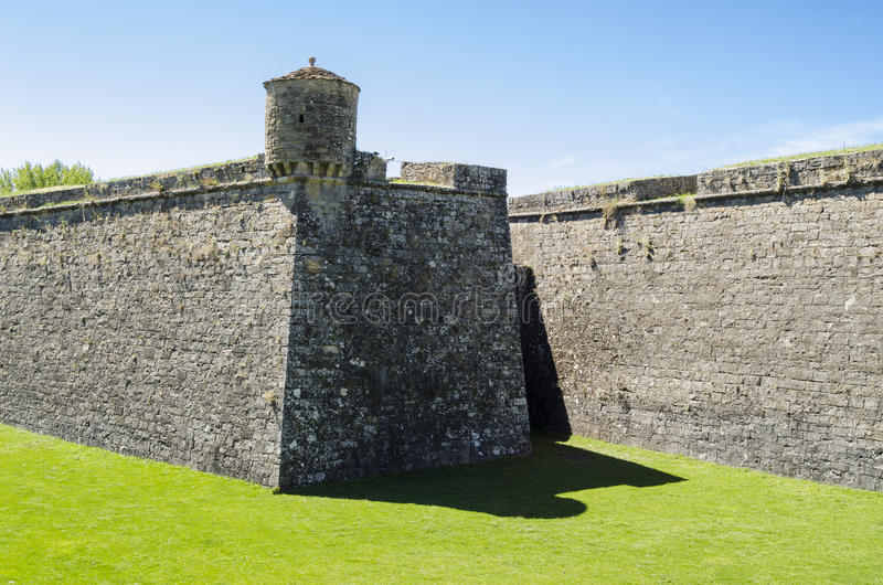 Citadel in northern Spain stock images