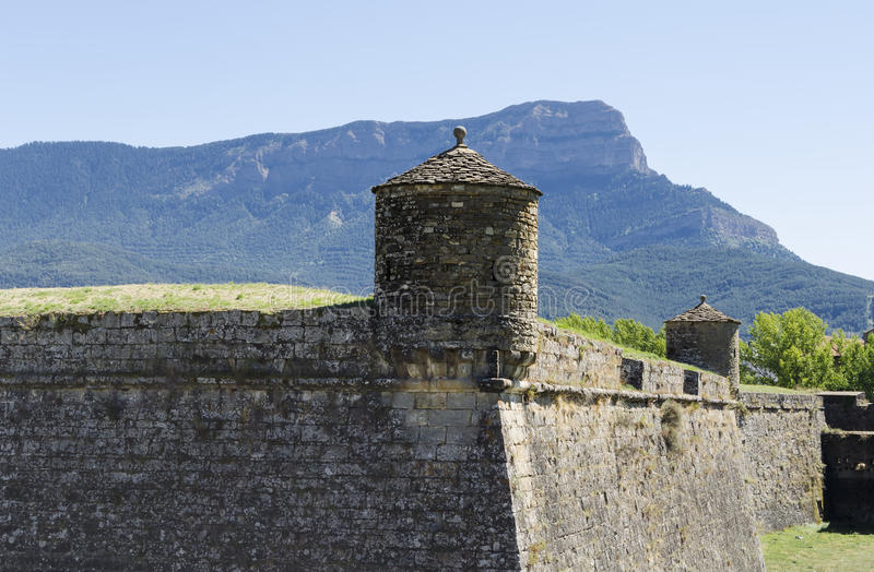 Citadel in northern Spain royalty free stock image