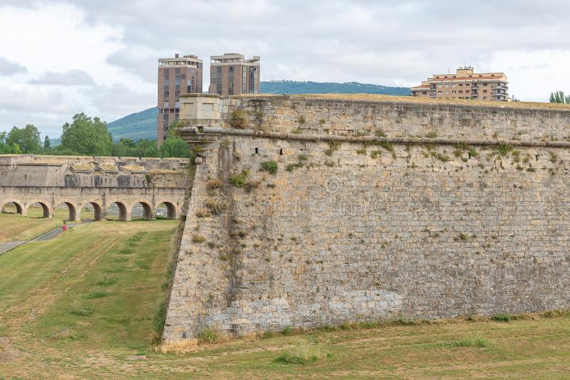 Citadel of Pamplona, Navarre, Spain royalty free stock images