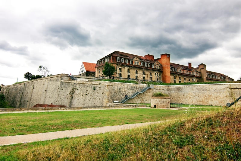 Citadel on Petersberg in Erfurt. Germany stock images