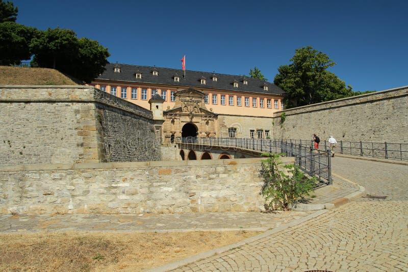 Citadel Petersberg in Erfurt, Thuringia. stock image