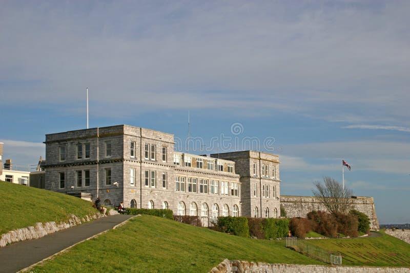 citadel plymouth royaltyfri bild
