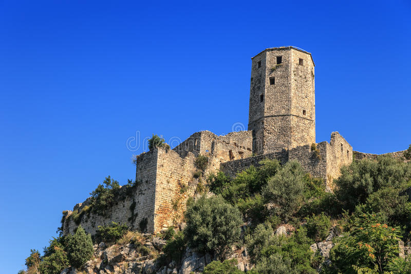 The Citadel. Of Pocitelj in the valley of the river Neretva, Bosnia and Herzegovina stock photo