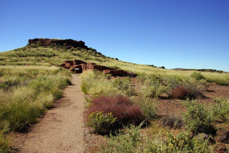 The Citadel Pueblo, ancient Native American site. Wupatki National Monument, Arizona stock photo