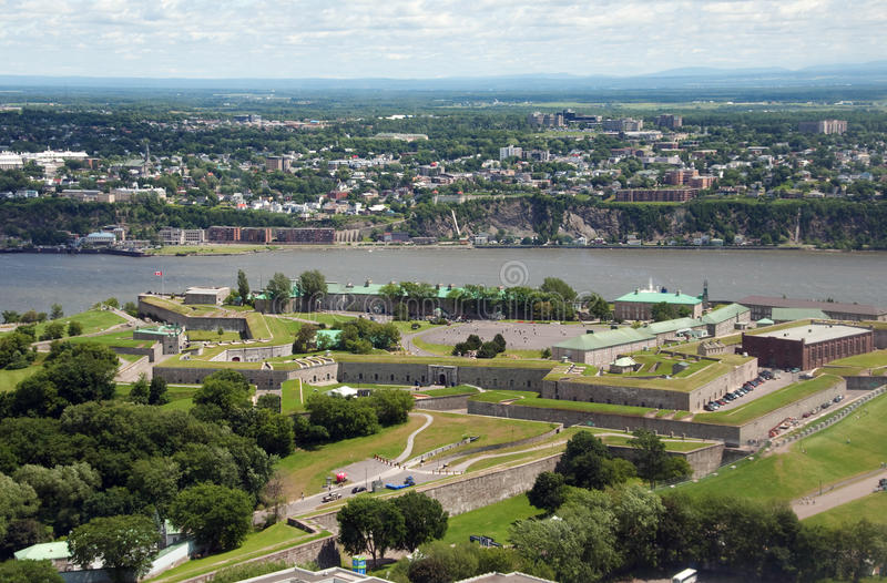 Citadel of Quebec, aerial view royalty free stock photos