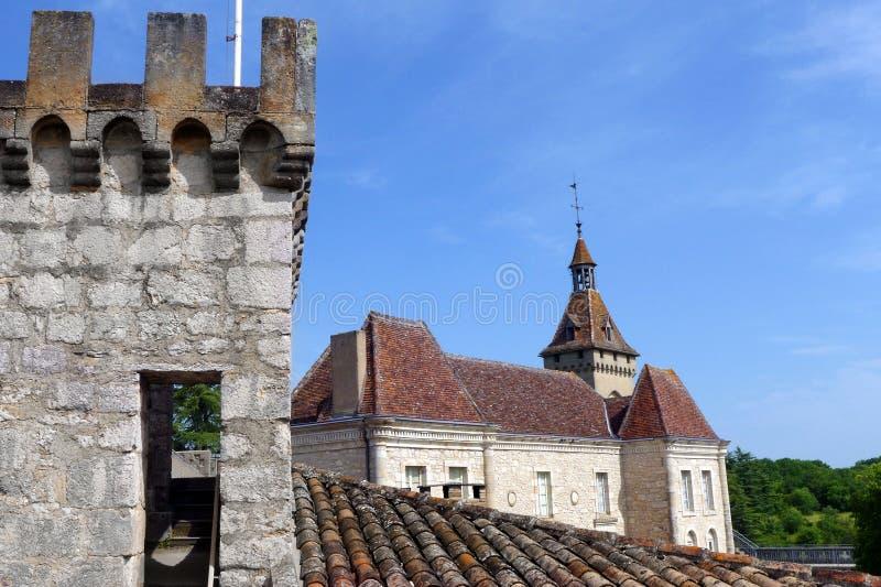 Citadel, Rocamadour, Frankrijk stock foto's