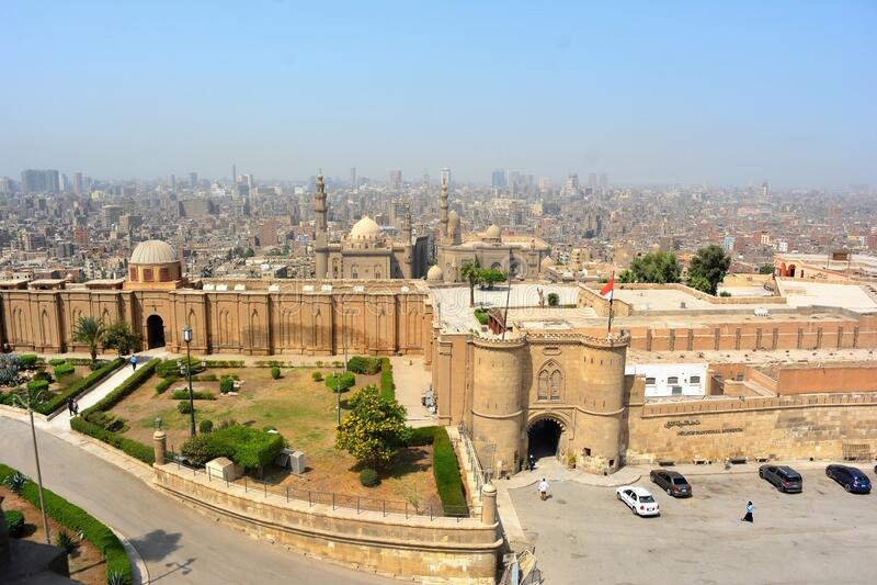 Citadel of Saladin stock image