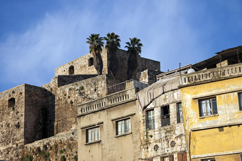 Citadel in Tripoli. Lebanon - seen morning time royalty free stock image