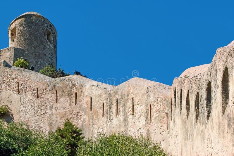 Citadel van Bonifacio - Corsica, Frankrijk royalty-vrije stock foto