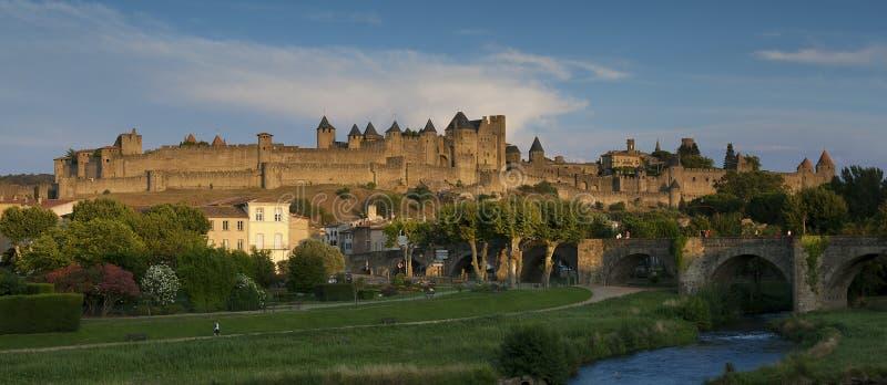 Citadel van Carcassonne stock foto's