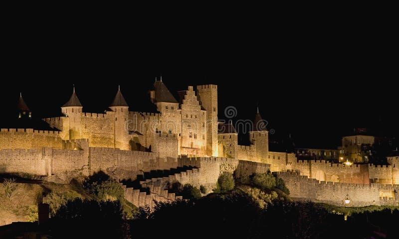 Citadel van Carcassonne stock fotografie