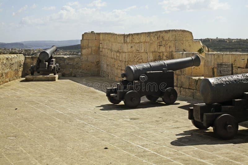 Citadel in Victoria. Gozo island. Malta. Citadel in Victoria on Gozo island. Malta royalty free stock photos