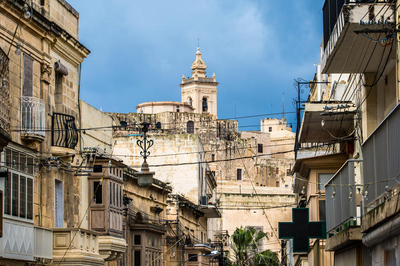 The Citadel, Victoria, Gozo, Malta. stock images