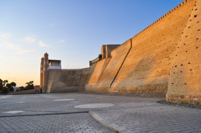 Citadela antiga em Bukhara 'citadela da arca ' imagens de stock