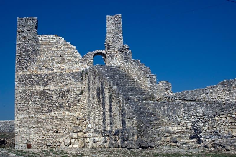 Citadela, Berati, Albânia foto de stock royalty free