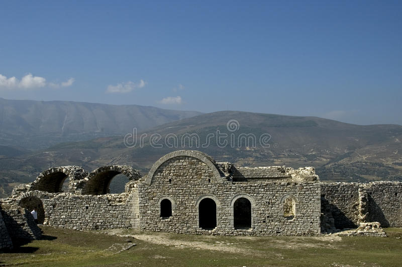 Citadela, Berati, Albânia imagem de stock royalty free