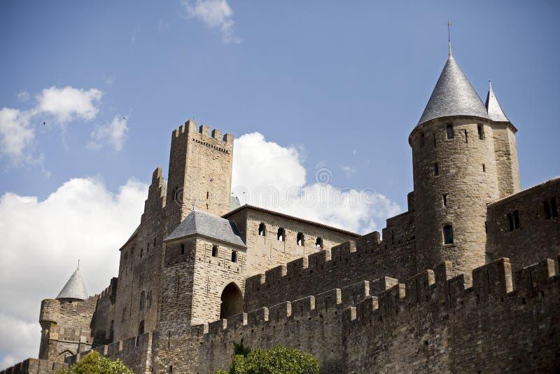 Citadela de Carcassonne fotos de stock royalty free