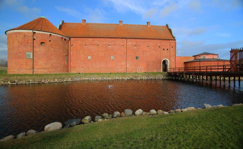 Citadela de Landskrona do marco histórico em Scania, Suécia imagem de stock royalty free