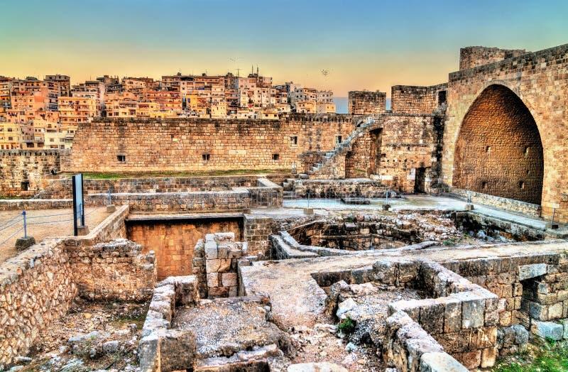 Citadela de Raymond de Saint-Gilles em Tripoli, Líbano fotografia de stock