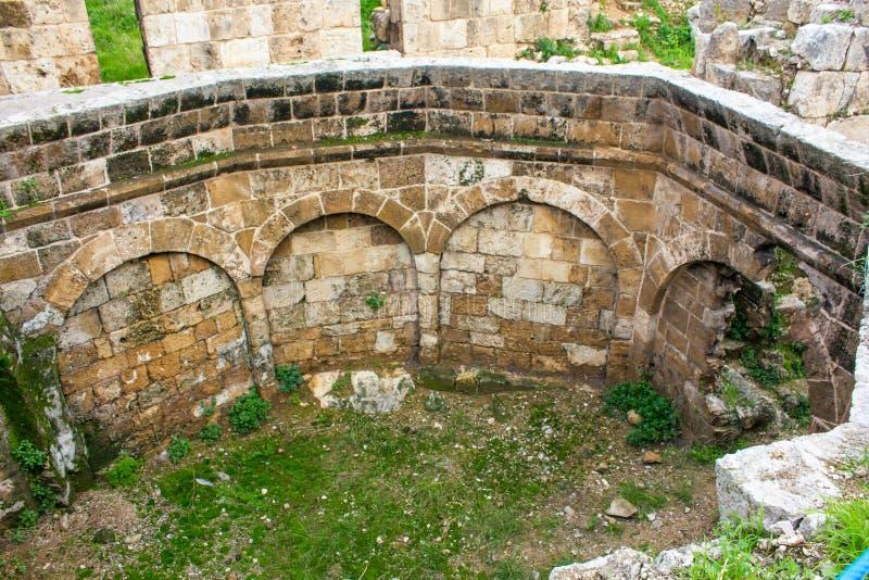 Citadela de Raymond de Saint-Gilles em Tripoli, L?bano fotografia de stock royalty free
