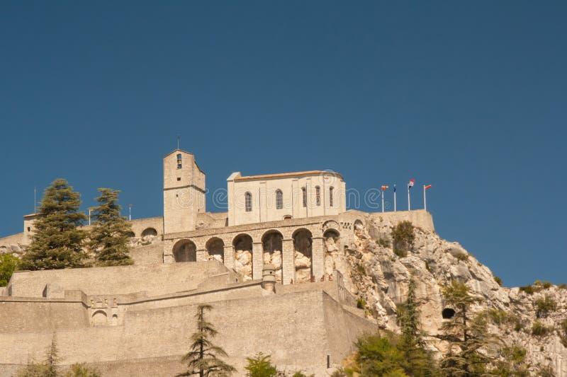 Citadela de Sisteron imagens de stock
