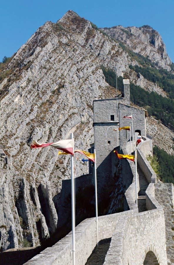 Citadela de Sisteron em France imagem de stock