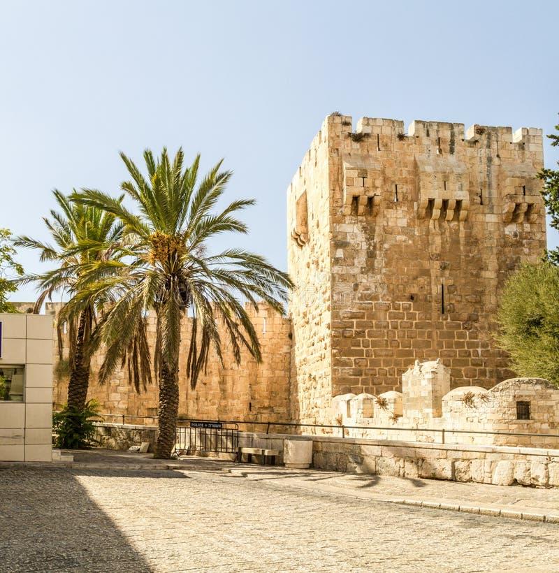 A citadela do Jerusalém, a torre de David Museum no Jerusalém, Israel fotos de stock