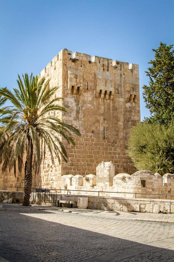 A citadela do Jerusalém, a torre de David Museum no Jerusalém, Israel imagens de stock royalty free