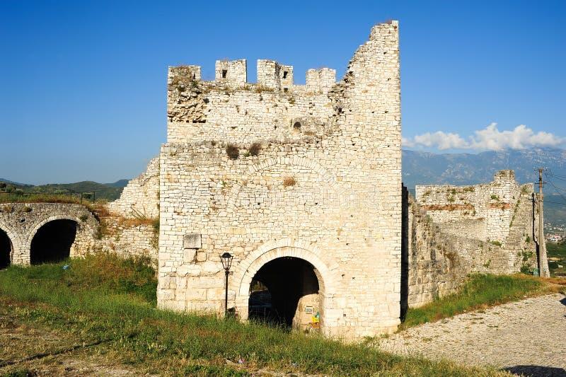 A citadela e a fortaleza de Kala em Berat fotografia de stock royalty free