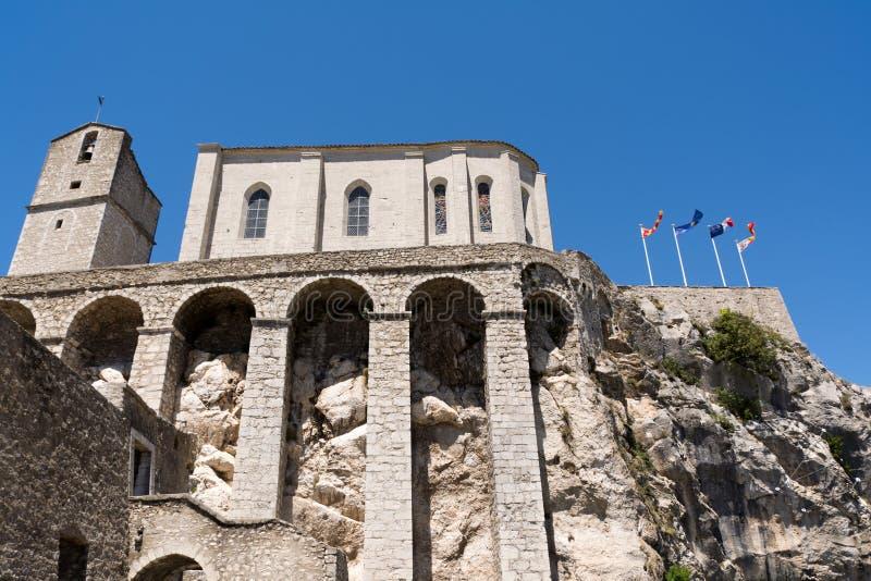 Citadela em Sisteron, França imagens de stock royalty free