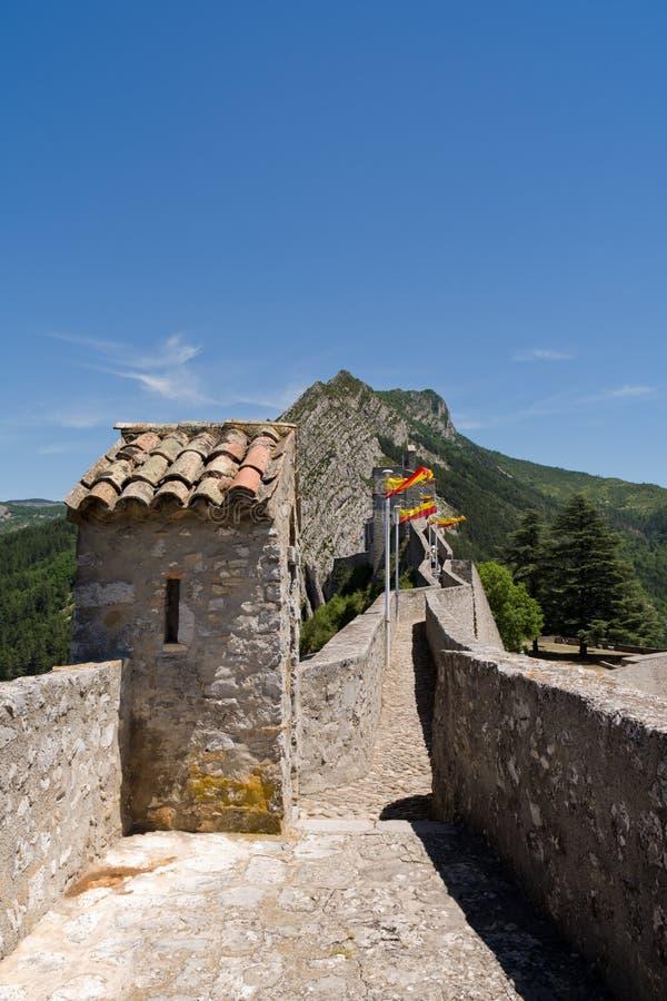 Citadela em Sisteron, França imagem de stock