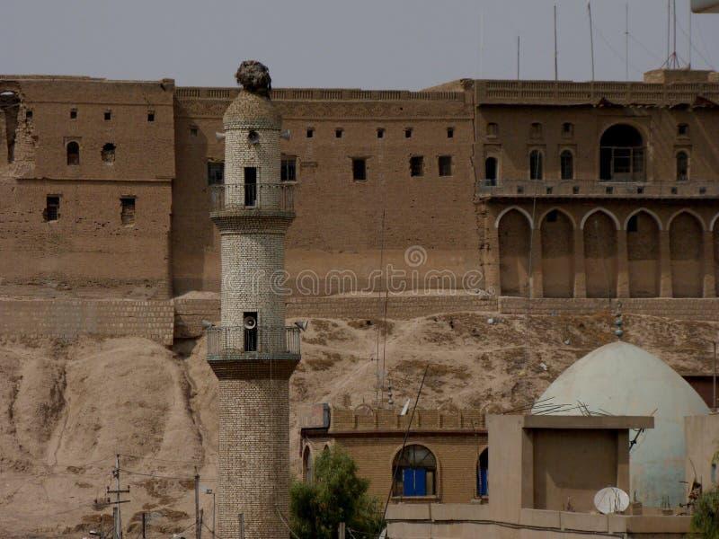 A citadela famosa de Erbil, Curdistão fotografia de stock
