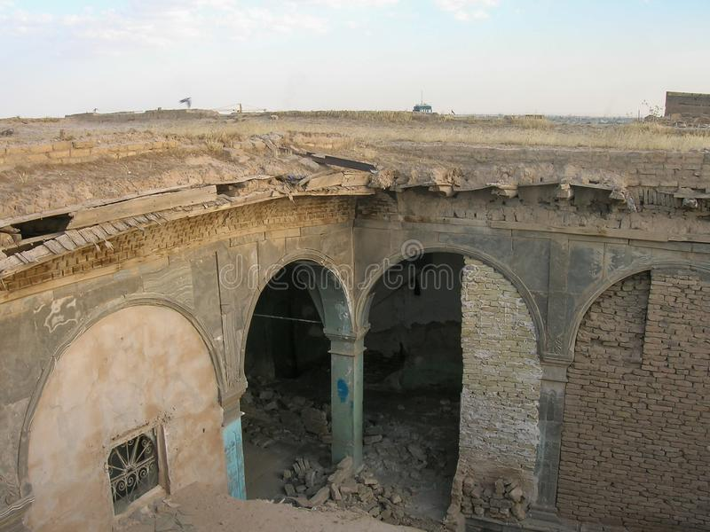 A citadela famosa de Erbil, Curdist?o Localmente, centro imagem de stock royalty free