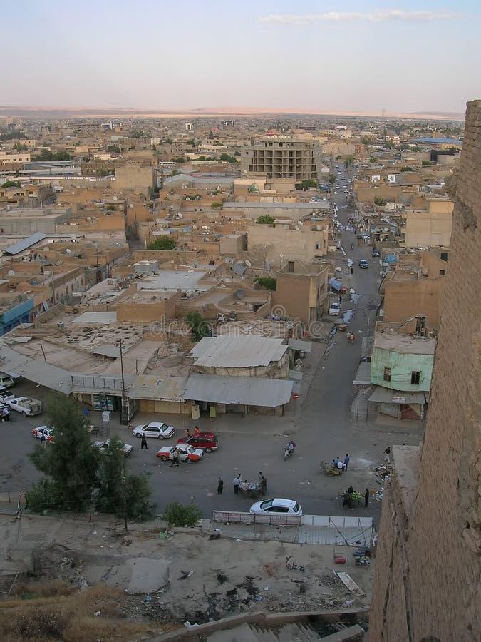 A citadela famosa de Erbil, Curdist?o Localmente, centro fotos de stock
